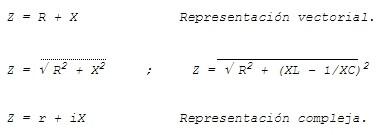 cálculo de impedancia en electricidad